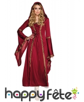 Robe de style royale médiévale belles finitions