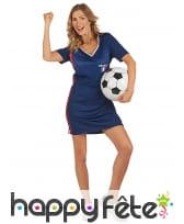Robe de supportrice de l'équipe de France
