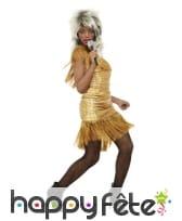 Robe de Tina Turner dorée pour femme