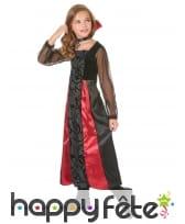 Robe de vampire noire avec arabesques pour enfant, image 1