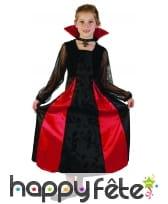 Robe de vampire noire avec arabesques pour enfant, image 3