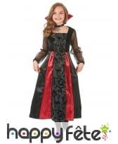 Robe de vampire noire avec arabesques pour enfant