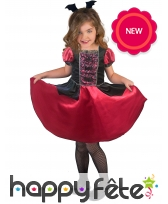 Robe de vampire noire et rouge pour enfant, image 1