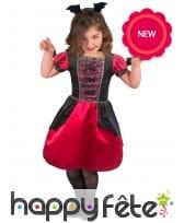 Robe de vampire noire et rouge pour enfant