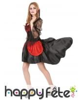 Robe de vampire rouge et noire avec voile, image 1
