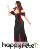 Robe de vampiresse à grand col rouge pour femme, image 2