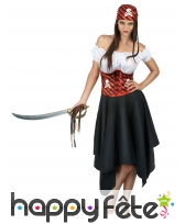 Robe et bandana de femme pirate