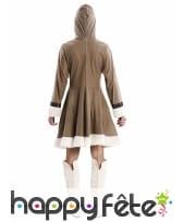 Robe esquimau marron pour adulte, image 2
