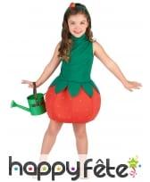 Robe fraise pour enfant