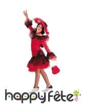 Robe flamenco rouge et noire pour enfant