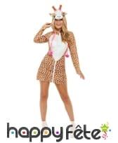 Robe girafe à capuche