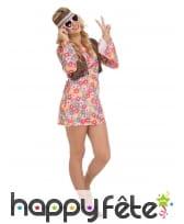 Robe hippie à fleurs pour femme