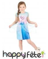 Robe imprimée Elsa sur le devant, pour enfant