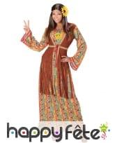 Robe longue hippie et gilet à franges