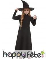 Robe longue noire de sorcière pour enfant