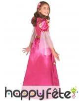 Robe longue rose de princesse médiévale, enfant, image 2
