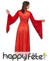 Robe longue rouge style médiéval pour adulte, image 2