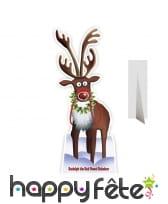 Rudolph le renne en carton taille réelle