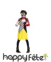 Robe multicolore de clown halloween pour enfant