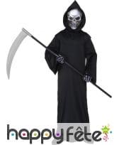 Robe noire à capuche de faucheur pour enfant