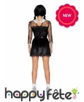 Robe noire courte de Halloween pour femme, image 1