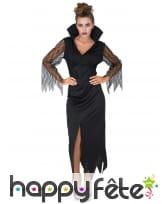 Robe noire de sorcière manches transparentes, image 1