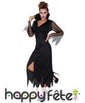 Robe noire de sorcière manches transparentes