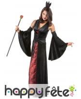 Robe noire et rouge de vampire effet velours, image 1