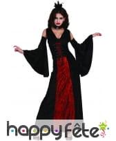 Robe noire et rouge de vampire effet velours, image 3
