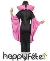 Robe noire et violette à grand col manches évasées, image 2