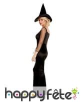 Robe noire glamour de sorcière pour femme, image 1