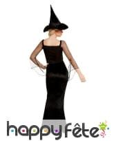 Robe noire glamour de sorcière pour femme, image 2