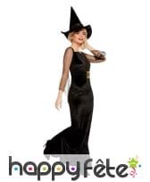 Robe noire glamour de sorcière pour femme, image 3