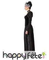 Robe noire gothique de reine pour femme, image 1