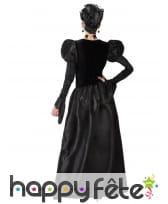 Robe noire gothique de reine pour femme, image 2