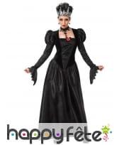 Robe noire gothique de reine pour femme
