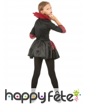 Robe noire rouge de vampiresse pour enfant, image 2