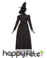 Robe noire unie de sorcière avec chapeau, femme, image 2