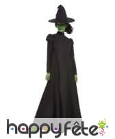 Robe noire unie de sorcière avec chapeau, femme, image 3