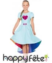 Robe queue de pie Love Cruise bleue pour fille, K3