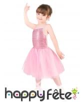 Robe rose de danseuse avec chaussons pour enfant