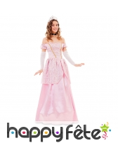 Robe rose de princesse pour femme