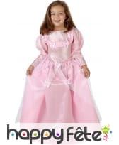 Robe rose de princesse pour petite fille