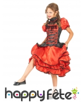Robe rouge de cancan pour enfant, image 1
