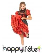 Robe rouge de cancan pour enfant