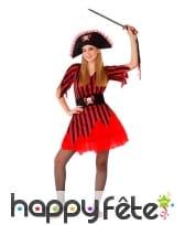 Robe rouge de pirate pour ado