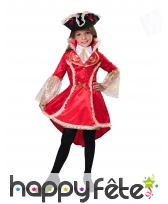 Robe rouge de pirate pour fille