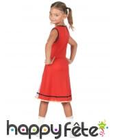 Robe rouge et blanche de pompom girl US pour fille, image 2