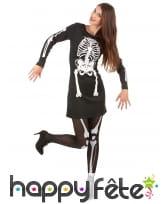 Robe squelette avec manches longues