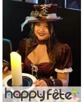 Robe steampunk courte pour femme, image 1
